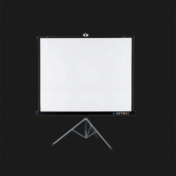 180*180 TRIPOD SCREEN - MATT WHITE